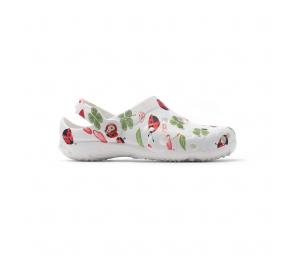 Schuzz-chaussure-sabot-globule-imprimé-infirmiere-sabot plastique-femme-fraise