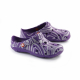 Schuzz-chaussure-sabot-globule-imprimé-infirmiere-sabot plastique-femme-argent sur prune