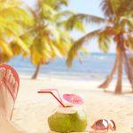 detente sur la plage avec flip flop(